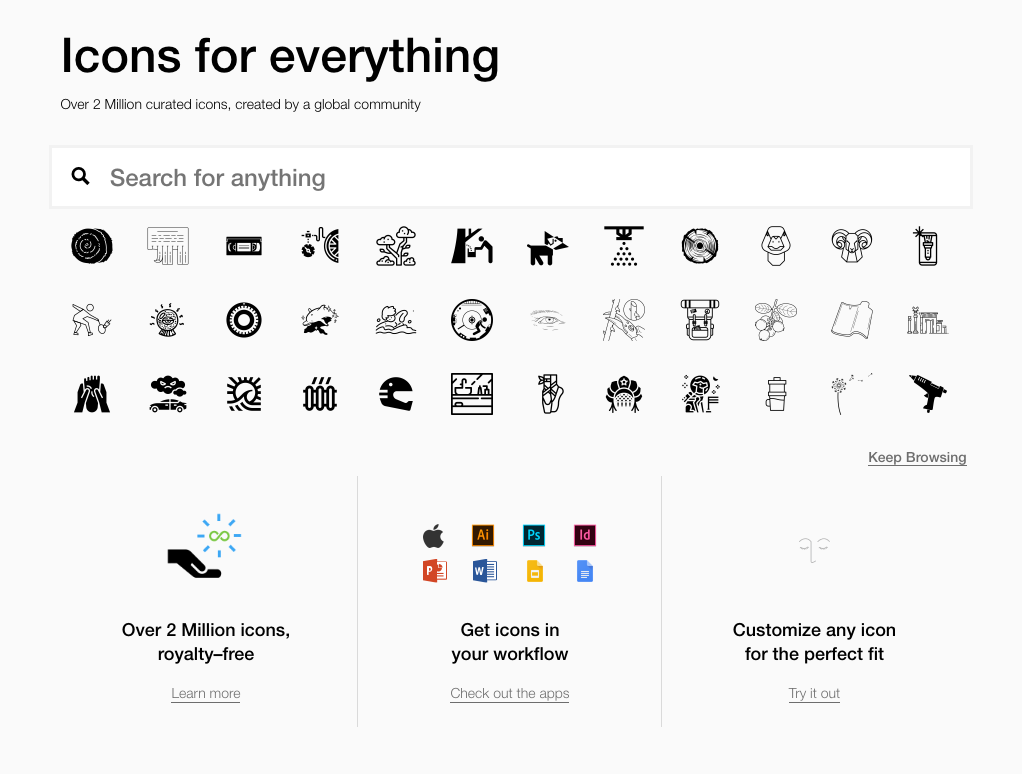 Where to find beautiful and useful free icons.