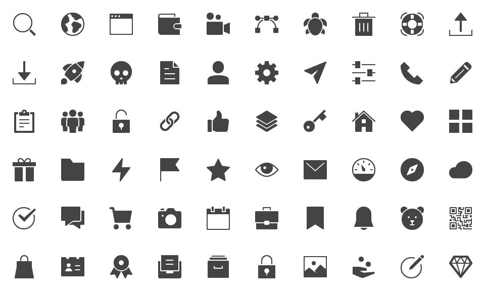 Free icons.
