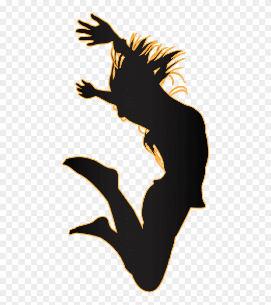Free Png Download Jumping Girl Silhouette Png Images.