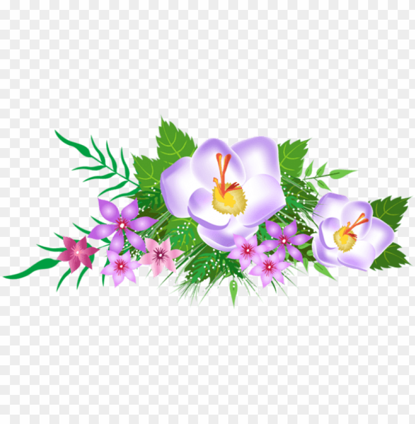 free png download flowers decorative element clipart.