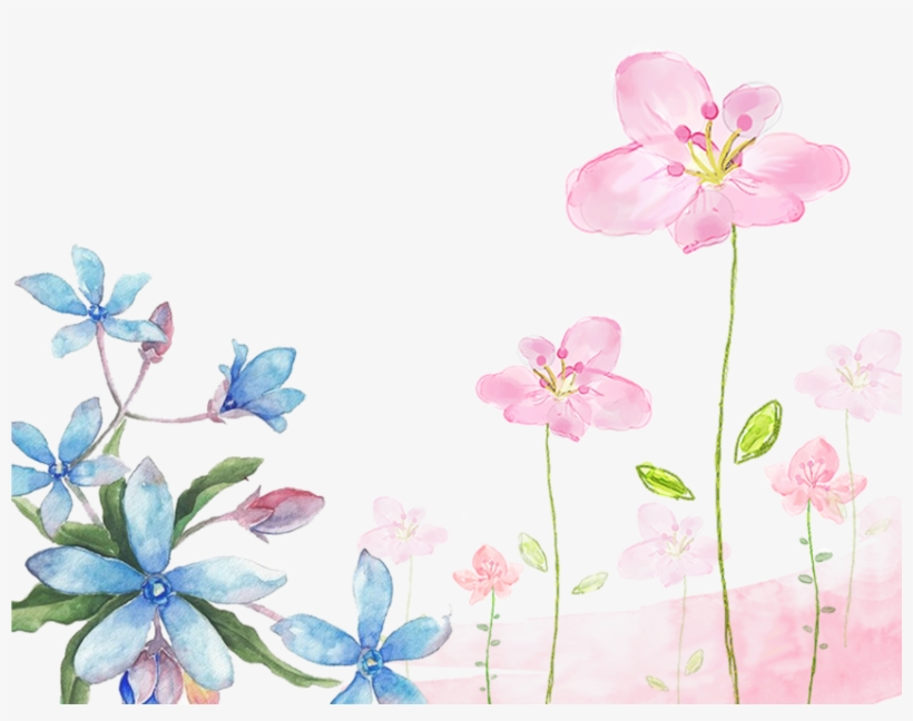 Free Png Download Watercolor Flowers Background Png.