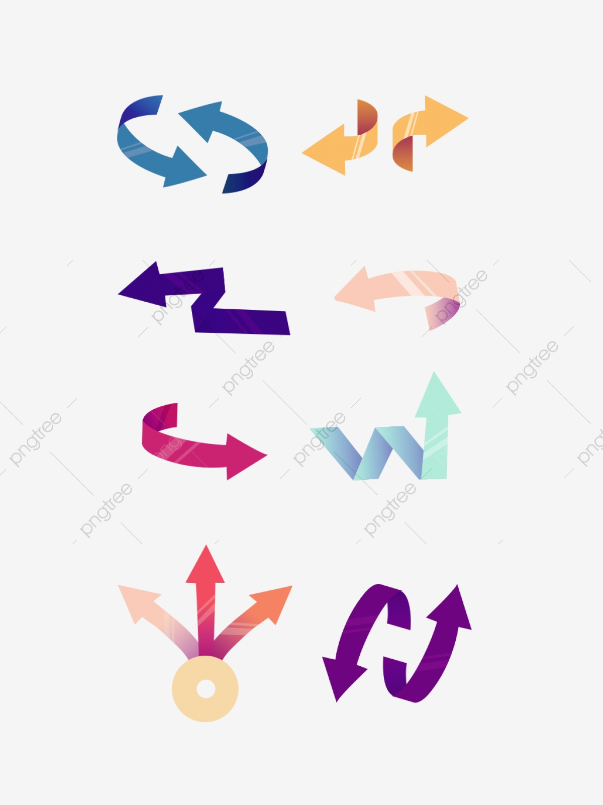 Ribbon Simple Gradient Arrow Mobile Phone Icon Material Is Available.