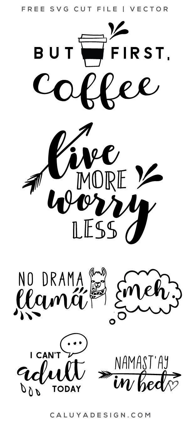 FREE Funny Quotes SVG, PNG, EPS & DXF By.