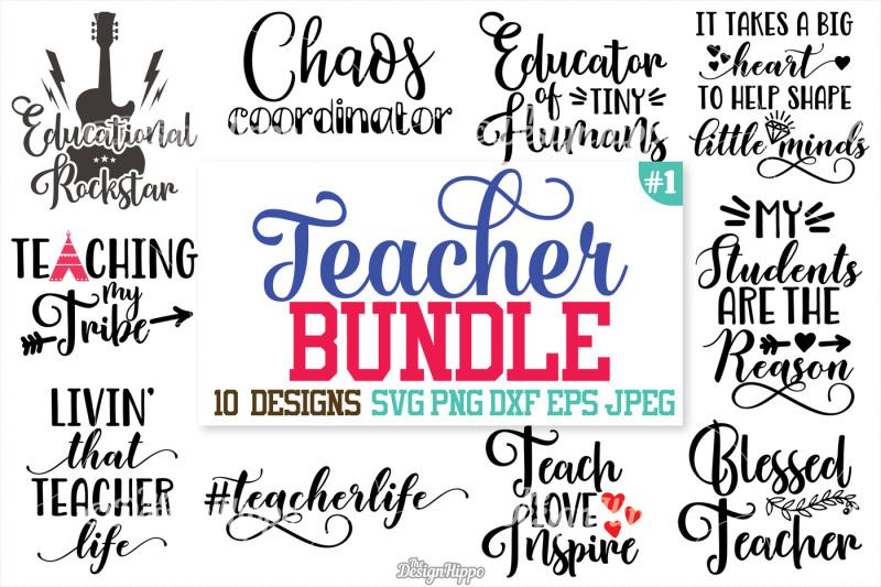 Free Teacher SVG Bundle, Teacher Bundle, SVG, DXF, PNG, Cut Files.