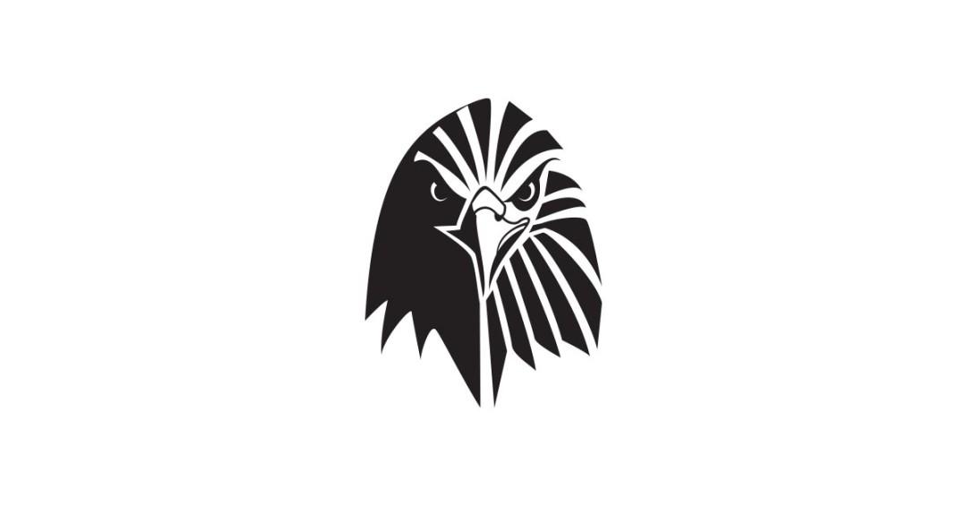 Eagle Logo Template Black and White.