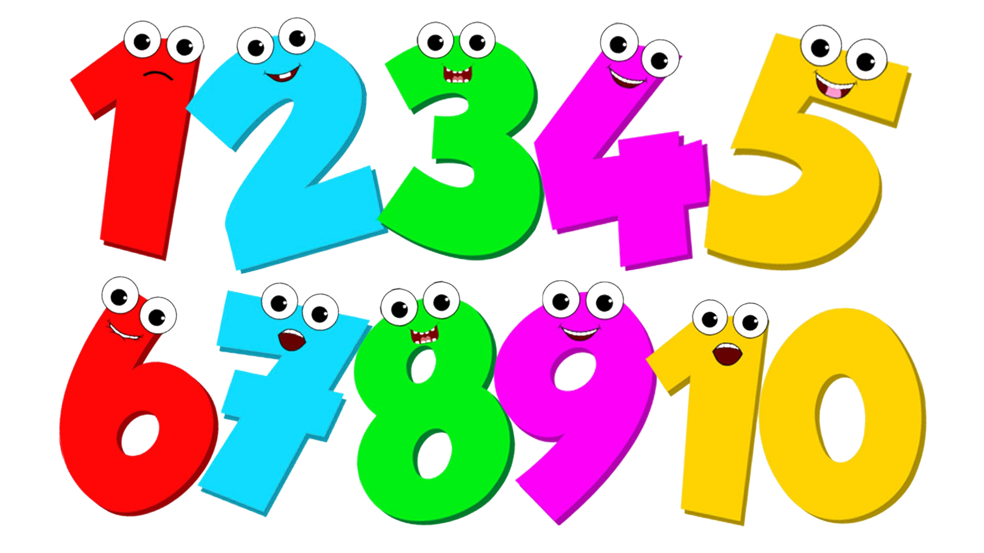 Download 1 To 10 Numbers Transparent Free PNG.