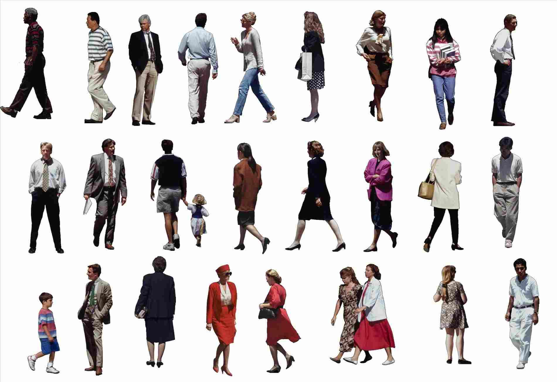 Group People Walking Png (+).