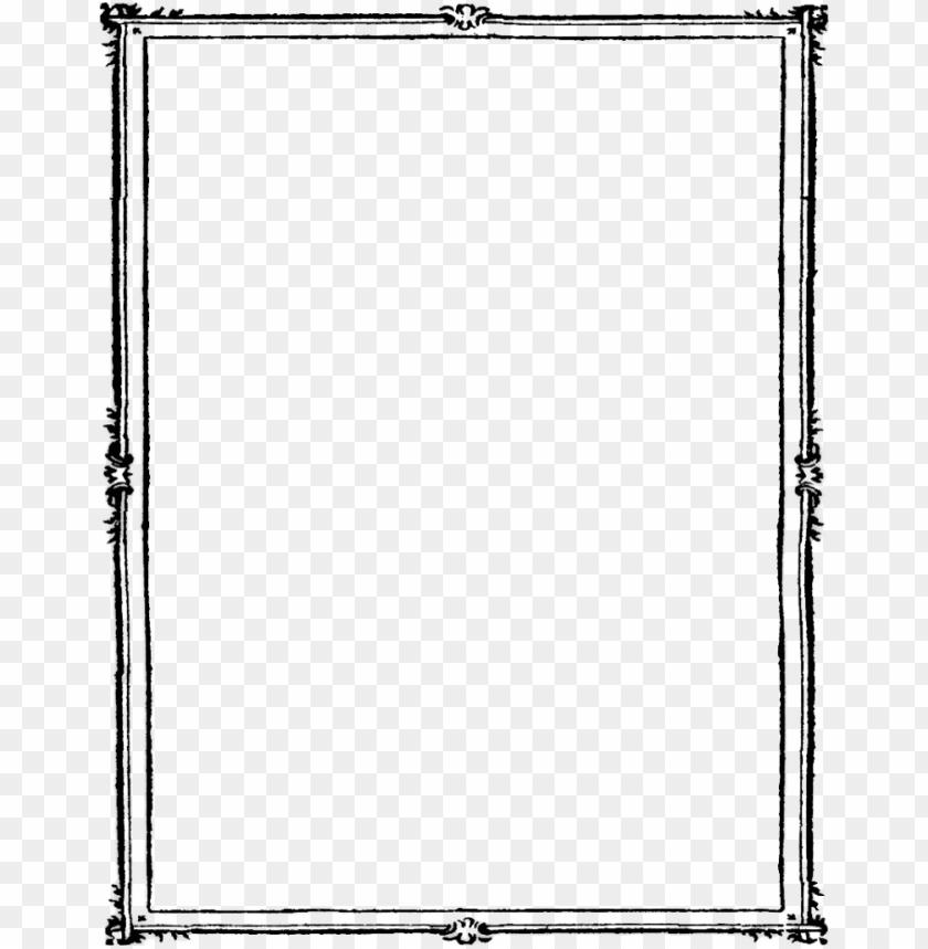 frame border black PNG image with transparent background.