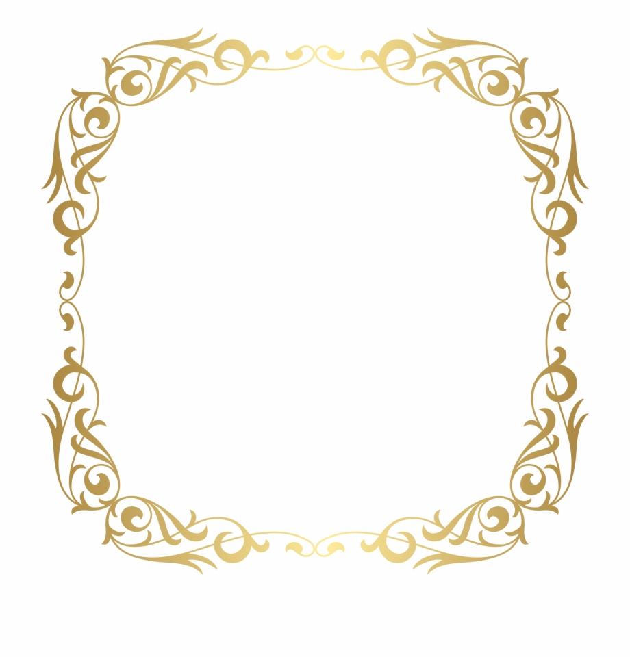 Gold Frame Border Png Frame Frame Clipart Gold Border Free PNG.