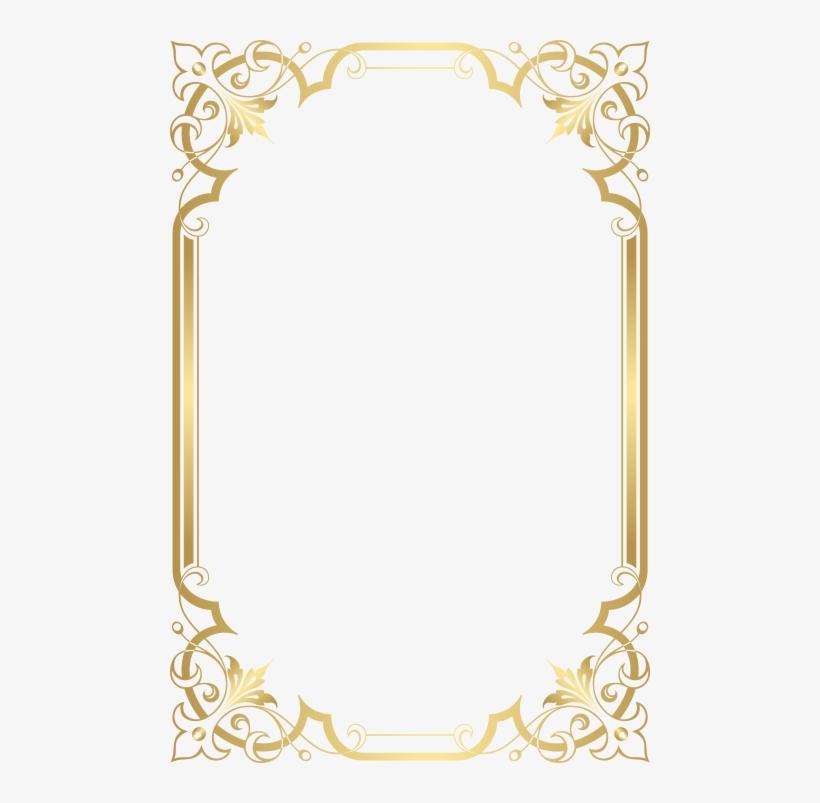 Free Png Download Gold Border Frame Png Images Background.