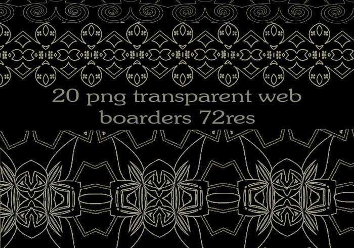 20 free png transparent web borders.