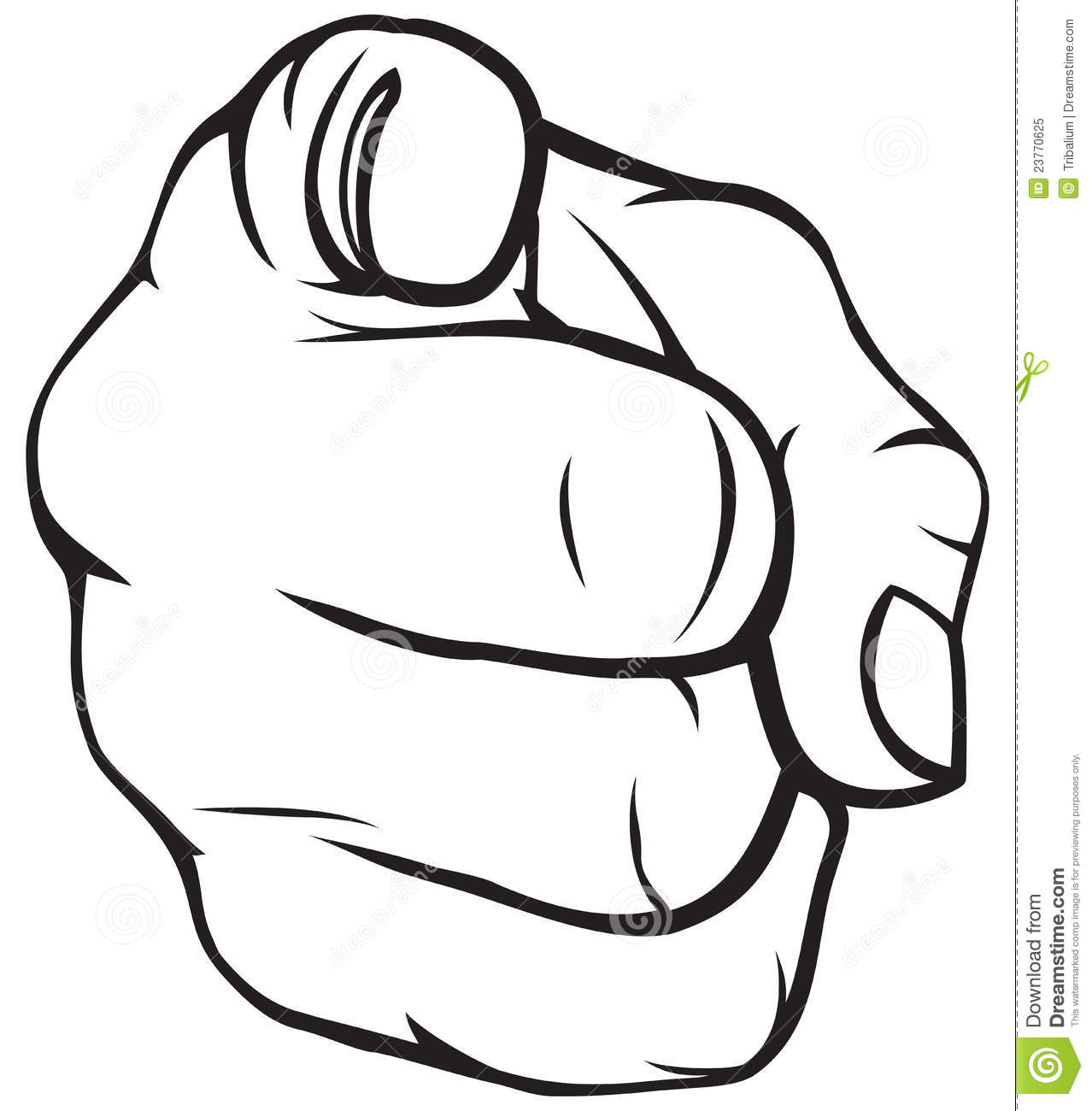 Point Finger Clipart.