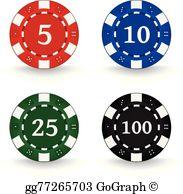 Poker Chips Clip Art.
