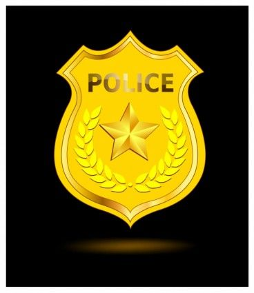 642 Police Badge free clipart.