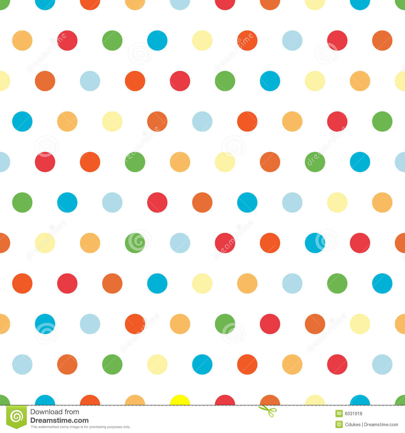 Bright Polka Dots Background Stock Illustration.