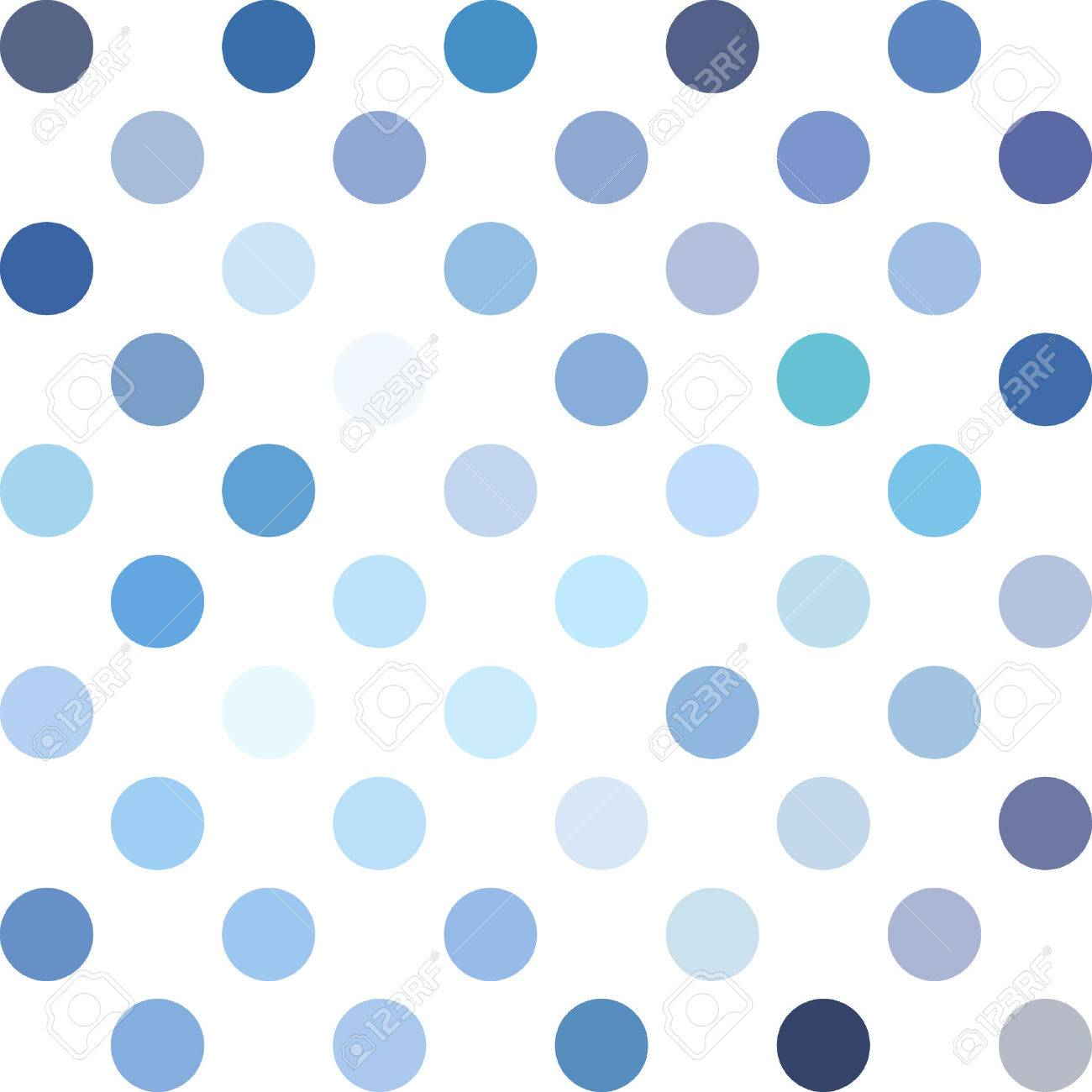 Blue Polka Dots Background.