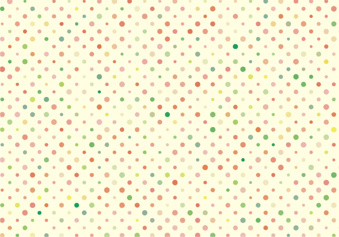 Cute Polka Dots Pattern Free Vector.