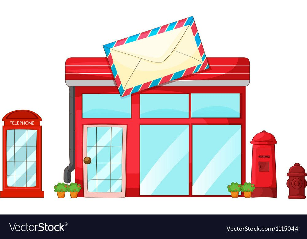 Post office Royalty Free Vector Image.
