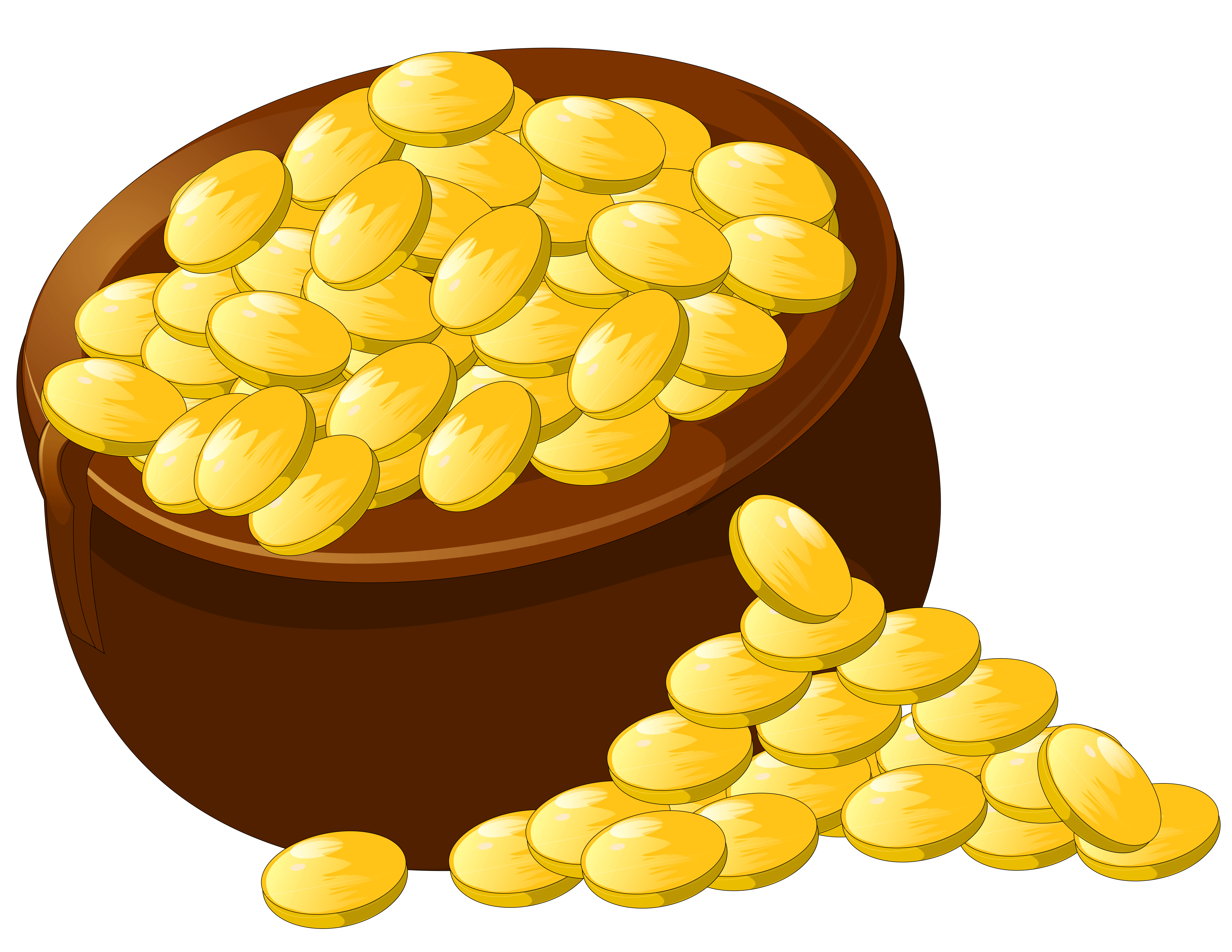 Transparent Pot of Gold PNG Picture Clipart.