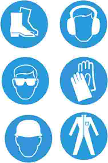 Cliparts Library: Ppe Safety Clipart Free Ppe Symbols.