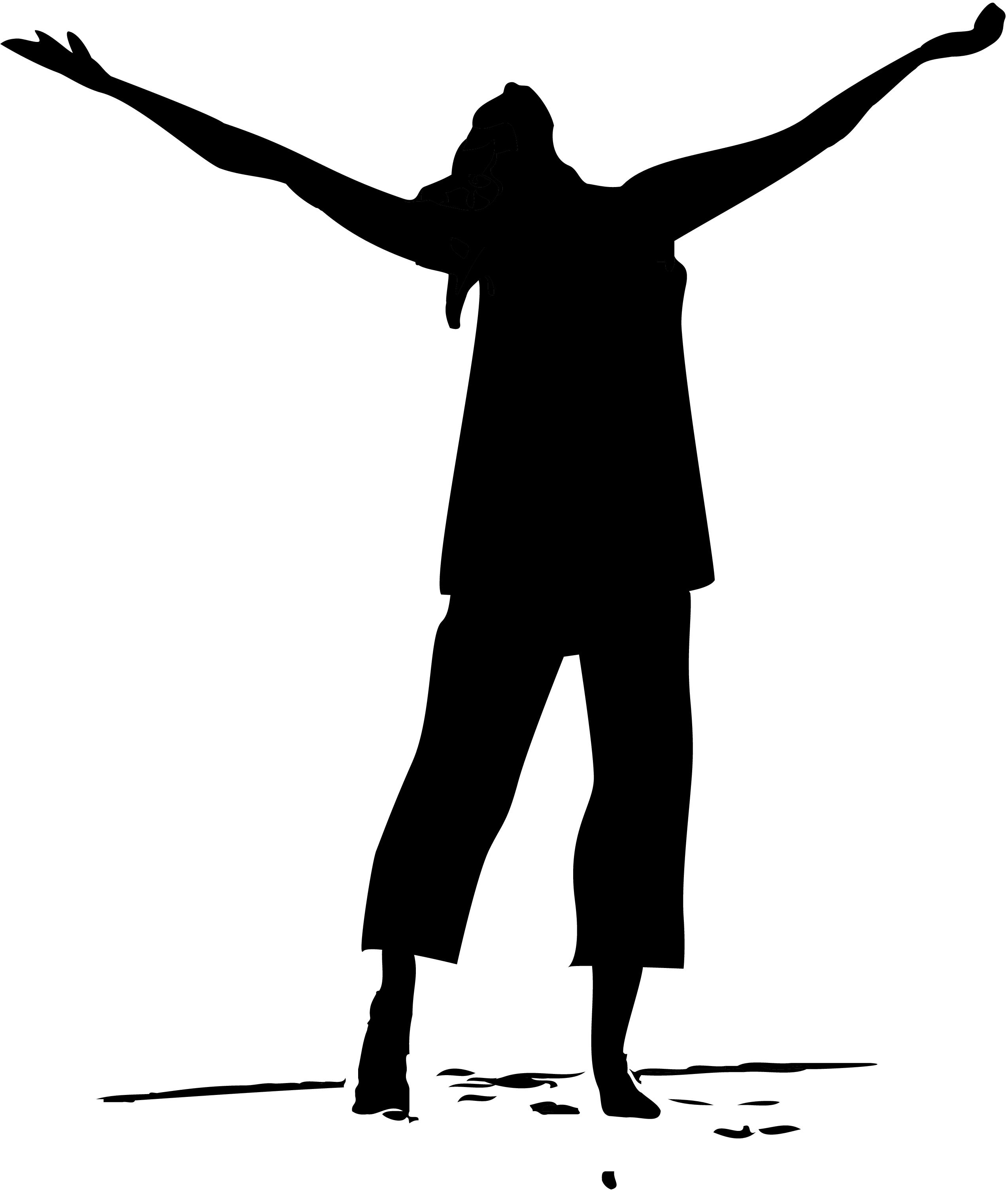 Praise Dance Silhouette Clip Art N8 free image.