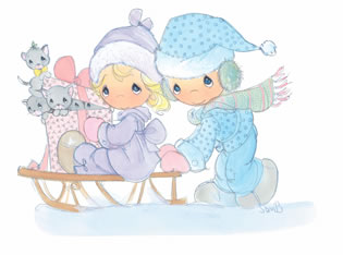 precious moments winter.