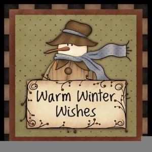 Free Primitive Christmas Clipart.