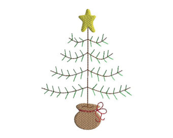 Primitive christmas tree clipart 3 » Clipart Station.