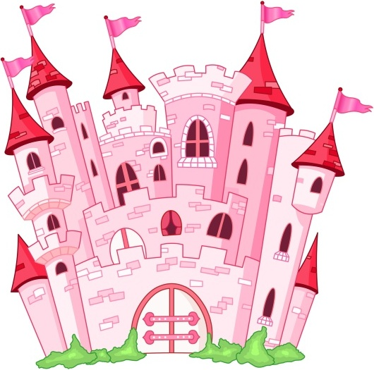 Pink fairy princess castle vector Free vector in Encapsulated.