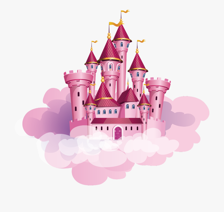 castle #fairytale #cloud #pink #princess #freetoedit.