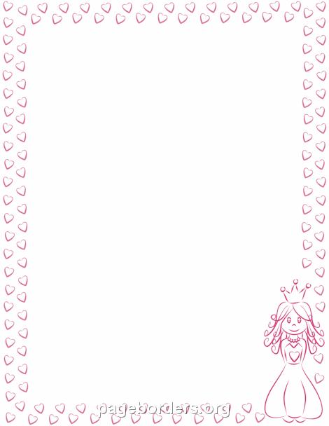 Princess Border: Clip Art, Page Border, and Vector Graphics.