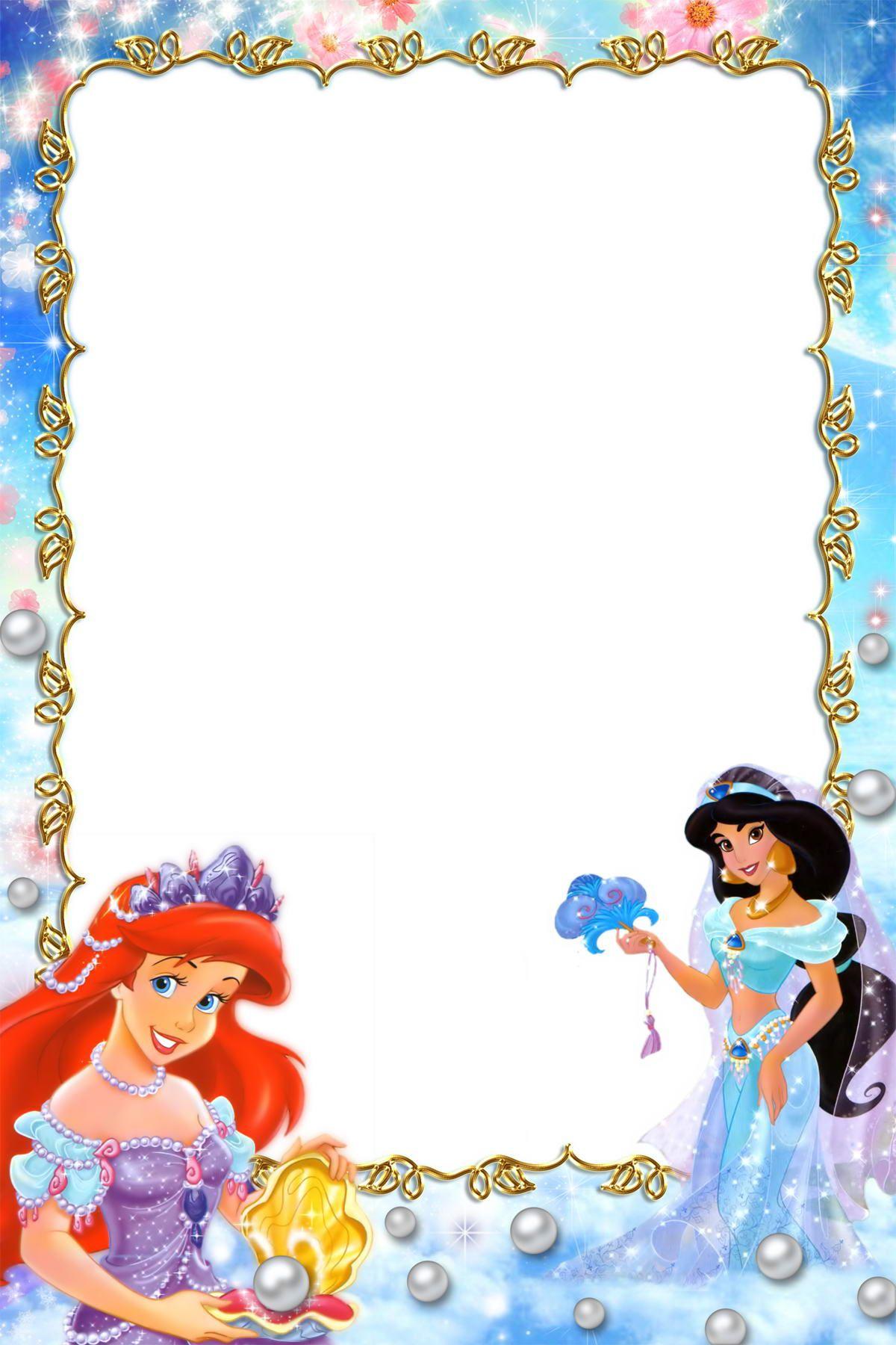 Princess border frames pictures.