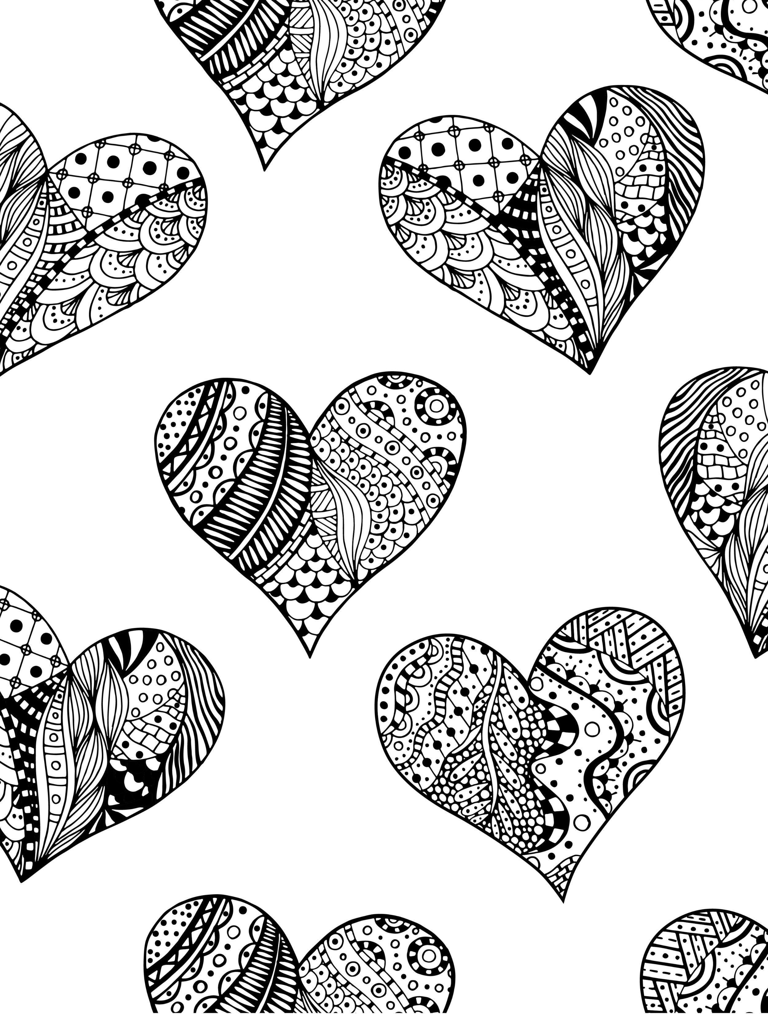 20 Free Printable Valentines Adult Coloring Pages.