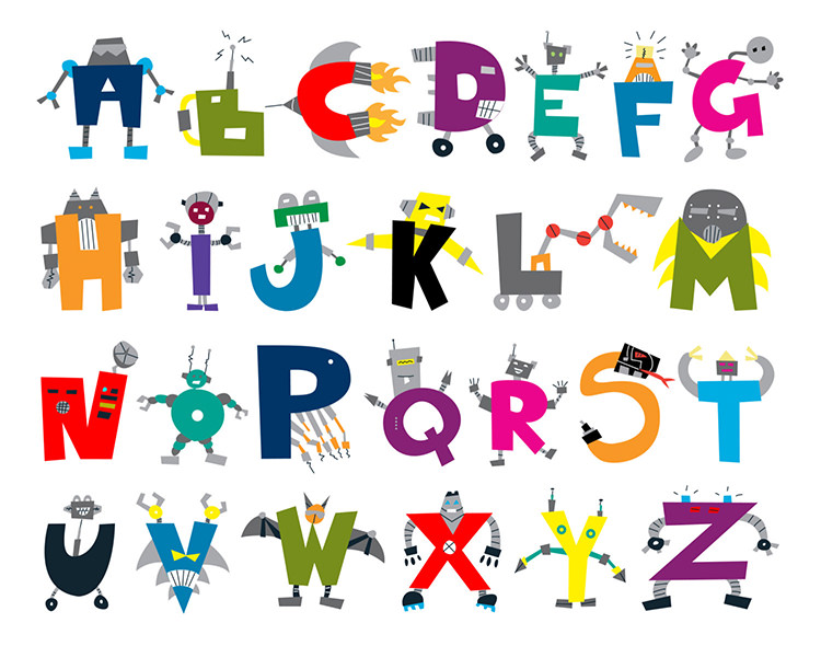 Download free printable alphabet clipart Alphabet ABC Letters.