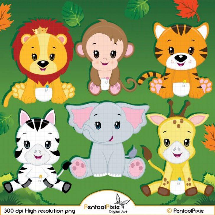 free printable baby jungle animal clip art.