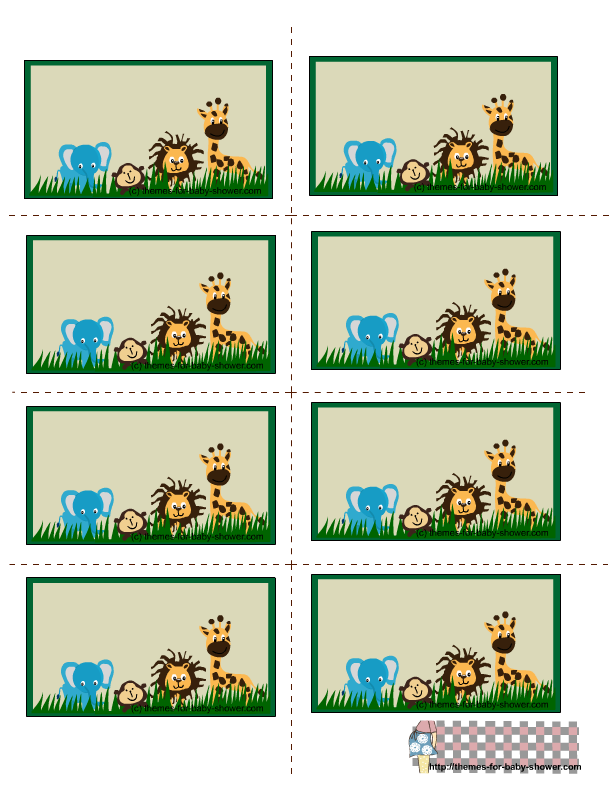 Free Printable Labels Baby Jungle Animals Pictures clipart free image.