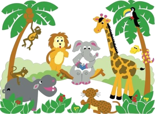 Animal Free Printable Baby Jungle Clipart Images At Png.