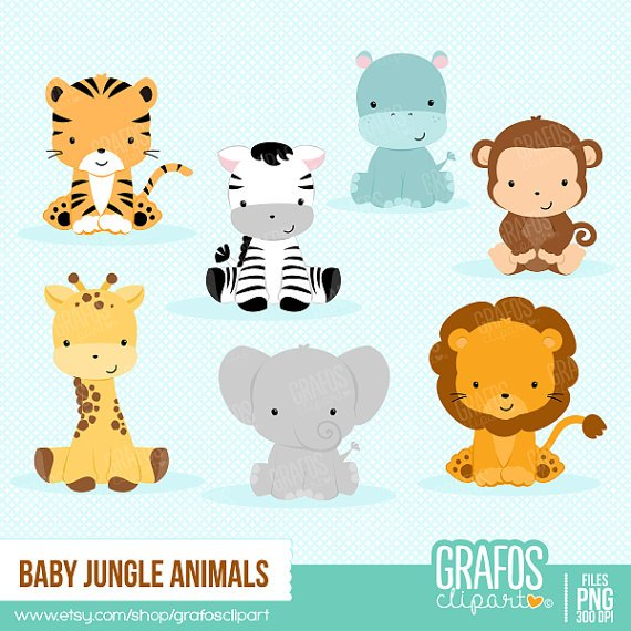 Free printable baby jungle animal clipart 5 » Clipart Portal.
