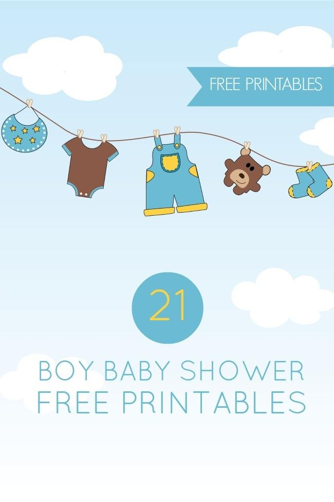 21 Free Boy Baby Shower Printables.