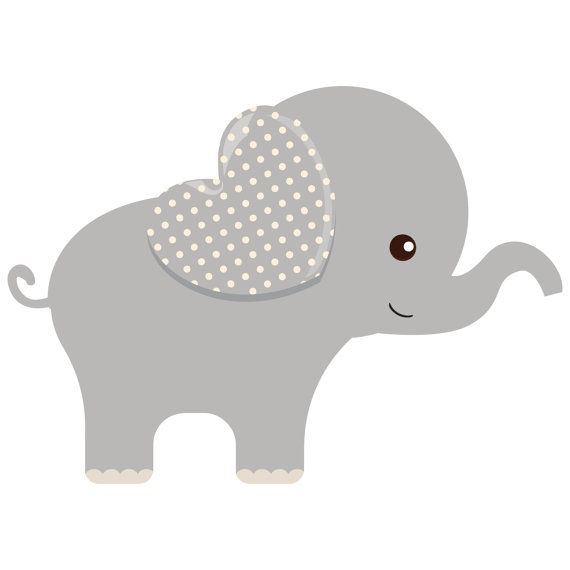 free printable elephants for corsage in baby shower.
