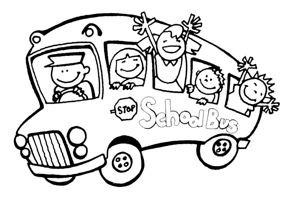 Bus black and white free printable school bus clipart.