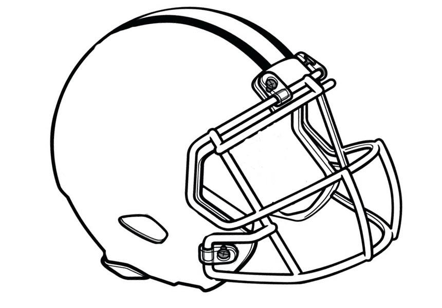 Football Helmet Clip Art Black and White.