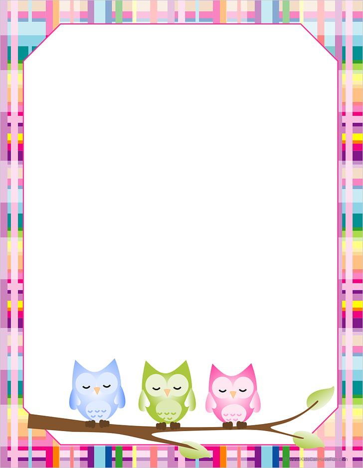 Owl Paper Online Writing Lab , Free Printable Border Designs.