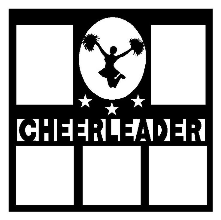 Printable Cheerleading Scrapbook Pages.