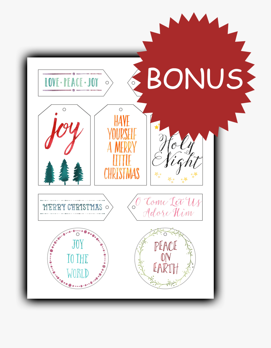 Free Printable Christian Christmas Tags , Free Transparent.