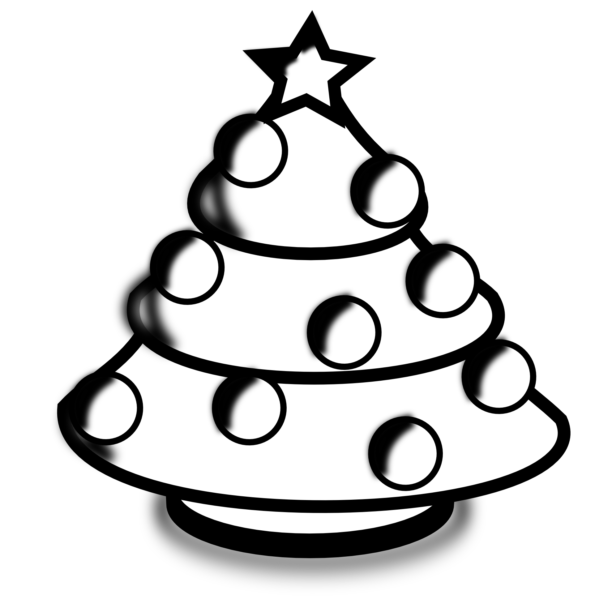Christmas Black And White Clipart Free.
