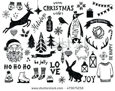 Christmas Clipart Black And White Free (86+ images in Collection) Page 1.