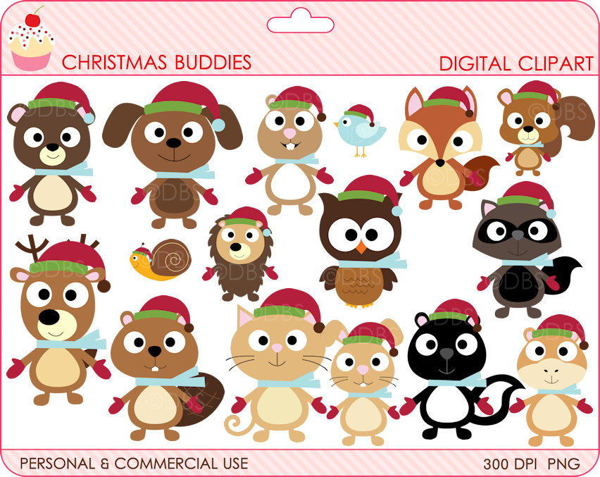 Free Printable Christmas Clipart Graphics.