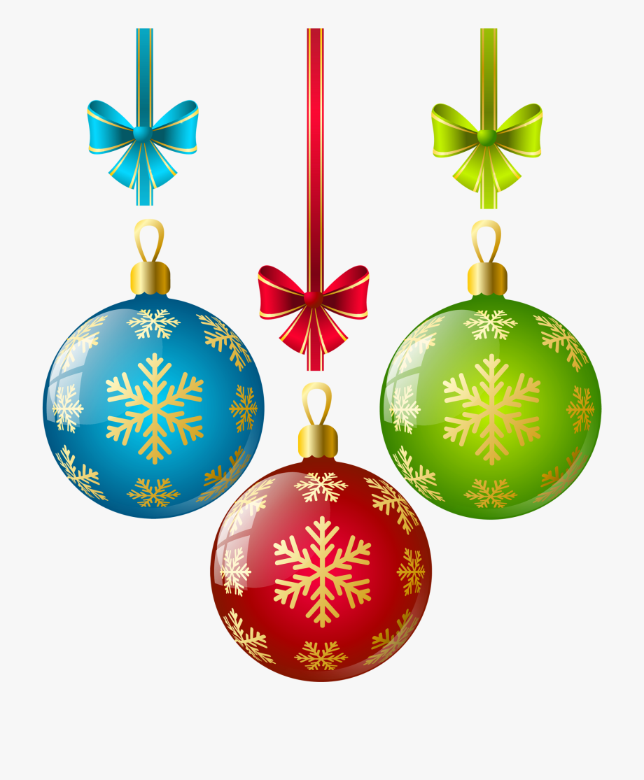 Christmas Ornaments Clipart Single.