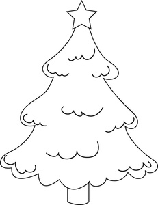 Christmas clip art coloring.